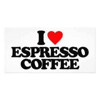 I LOVE ESPRESSO COFFEE PICTURE CARD