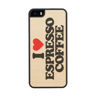 I LOVE ESPRESSO COFFEE CARVED® MAPLE iPhone 5 SLIM CASE