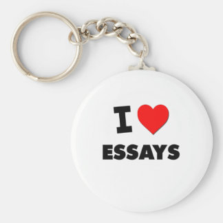 I love Essays Keychain