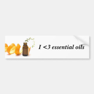 I Love Essential Oils Bumper Sticker