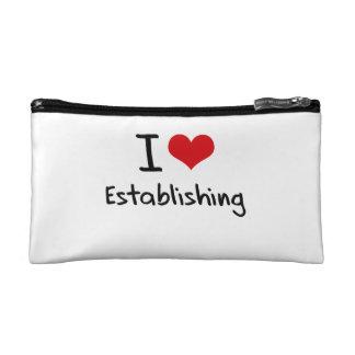 I love Establishing Cosmetic Bags