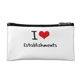 I love Establishments Cosmetic Bags