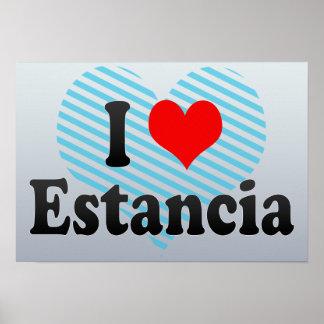 I Love Estancia, Brazil Posters