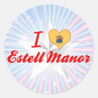 I Love Estell Manor, New Jersey Round Sticker