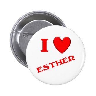 I Love Esther Pinback Button