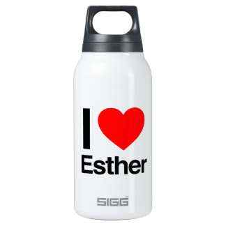 i love esther 10 oz insulated SIGG thermos water bottle