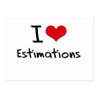 I love Estimations Business Card Template