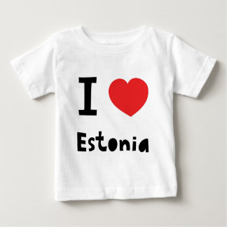 I love Estonia Baby T-Shirt