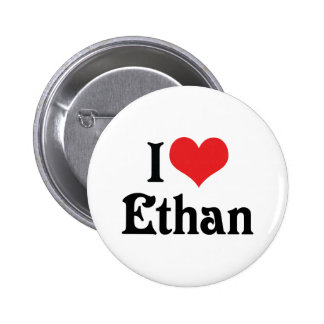 I Love Ethan Pinback Button