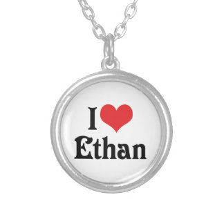 I Love Ethan Silver Plated Necklace