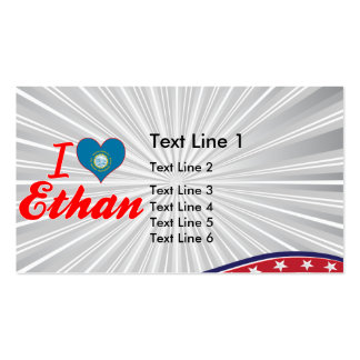 I Love Ethan, South Dakota Double-Sided Standard Business Cards (Pack Of 100)
