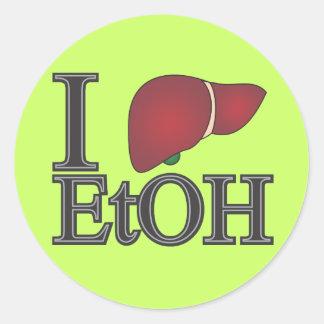 I Love Ethanol Classic Round Sticker