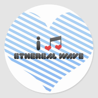 I Love Ethereal Wave Classic Round Sticker