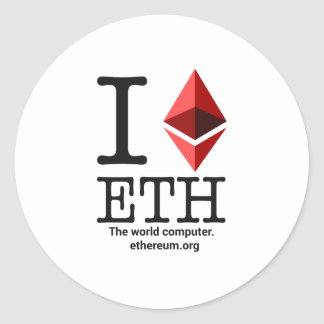 I Love Ethereum Sticker