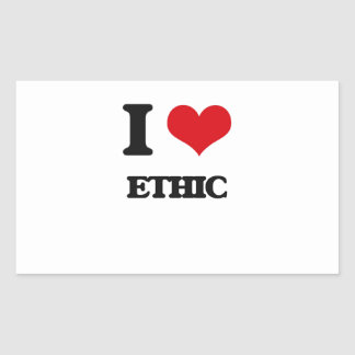 I love ETHIC Rectangle Stickers