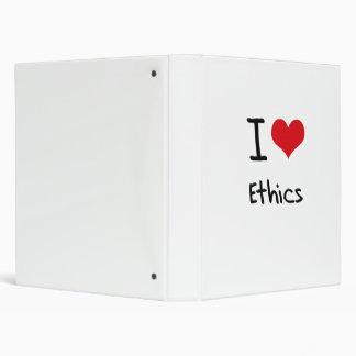 I love Ethics Vinyl Binders