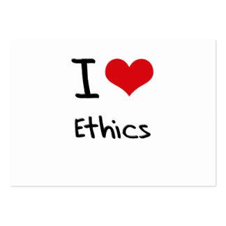 I love Ethics Business Card