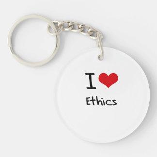 I love Ethics Acrylic Keychain
