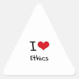 I love Ethics Triangle Sticker