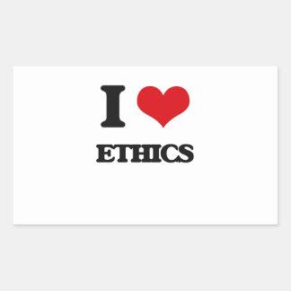 I love ETHICS Rectangular Sticker
