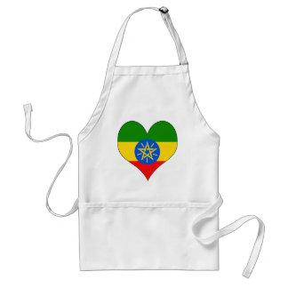 I Love Ethiopia Adult Apron
