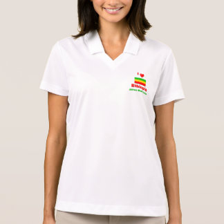 I Love Ethiopia, Africa Must Unite Polo T-shirts