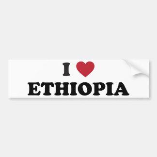 I Love Ethiopia Bumper Sticker