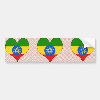 I Love Ethiopia Car Bumper Sticker