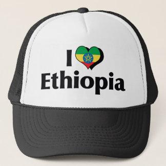 I Love Ethiopia Flag Trucker Hat