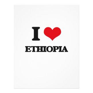 I Love Ethiopia Flyer Design