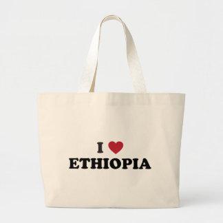 I Love Ethiopia Large Tote Bag