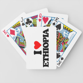 I LOVE ETHIOPIA BICYCLE POKER CARDS