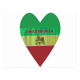 I love Ethiopia.png Postcard
