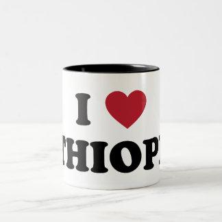 I Love Ethiopia Two-Tone Coffee Mug