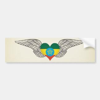 I Love Ethiopia -wings Bumper Sticker