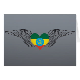 I Love Ethiopia -wings Greeting Cards