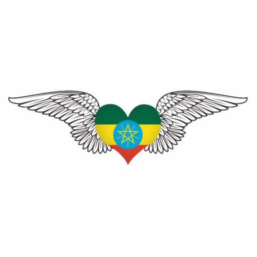 I Love Ethiopia -wings Cut Outs
