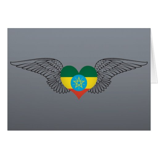 I Love Ethiopia -wings Greeting Card