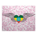 I Love Ethiopia -wings Postcard
