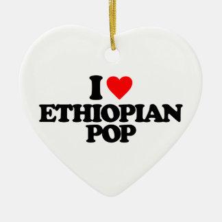I LOVE ETHIOPIAN POP CERAMIC ORNAMENT