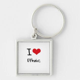 I love Ethnic Key Chain