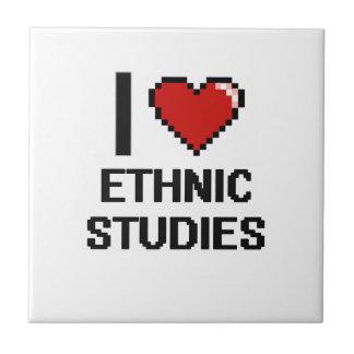 I Love Ethnic Studies Digital Design Small Square Tile