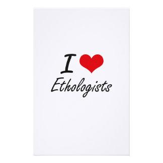 I love Ethologists Stationery