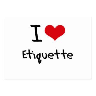 I love Etiquette Business Card