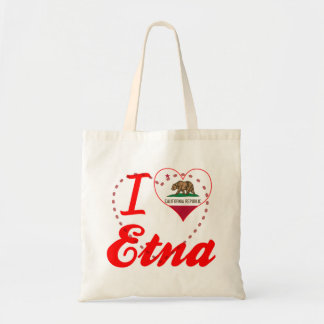I Love Etna, California Tote Bag