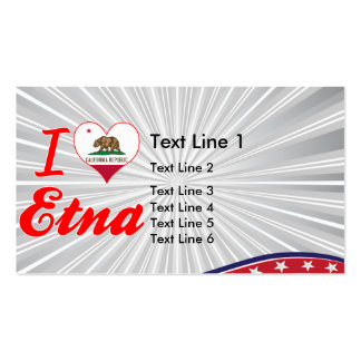 I Love Etna, California Business Cards