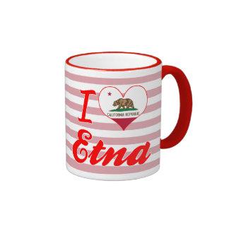 I Love Etna, California Mug