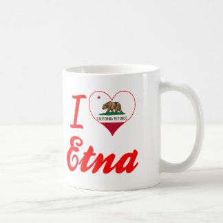 I Love Etna, California Coffee Mugs