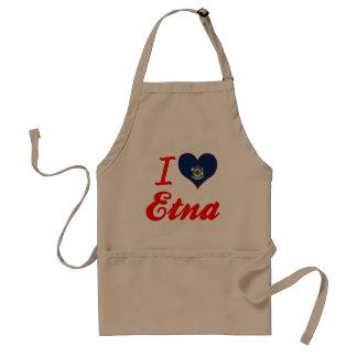 I Love Etna, Maine Adult Apron