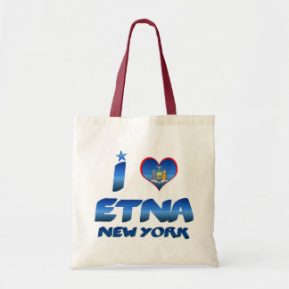 I love Etna, New York Canvas Bag